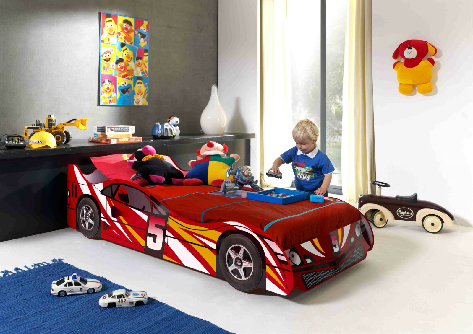 Standard Red Race Car Bed