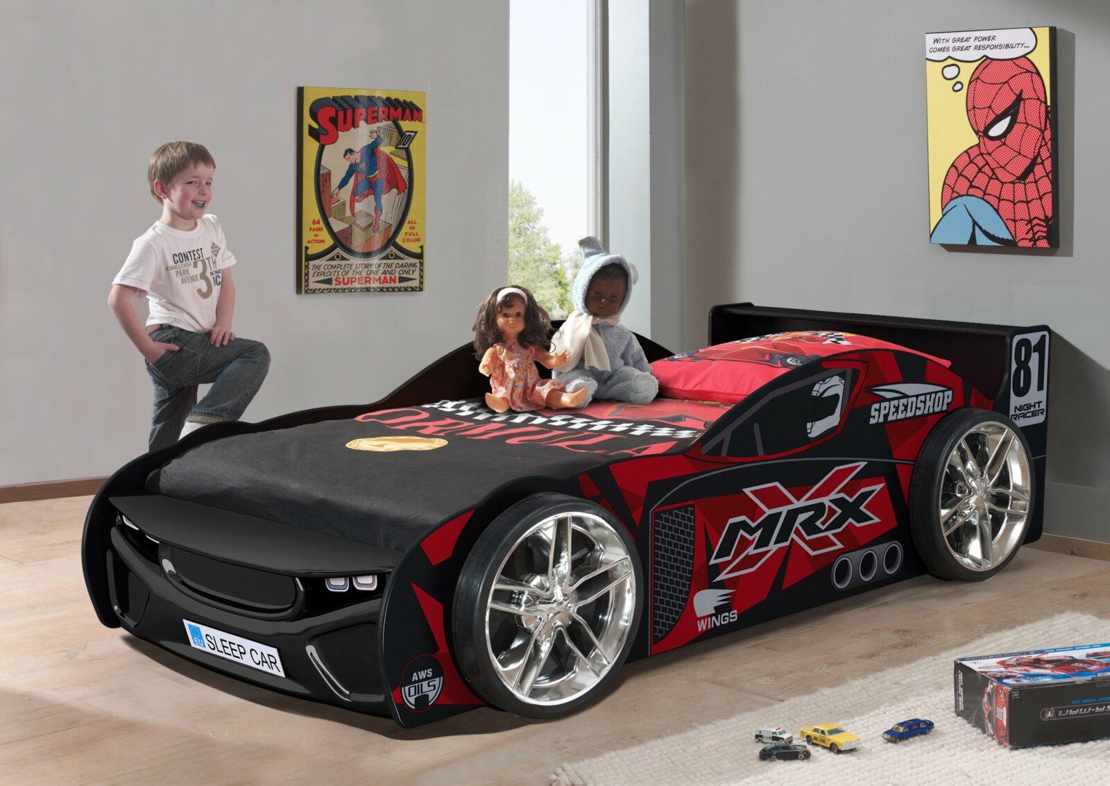 Premium Black Race Car Bed
